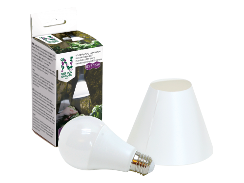 Kasvivalo LED-lamppu ja varjostin